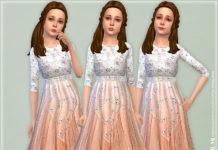 Платье для девочек «Жемчуг» от lillka для Sims 4