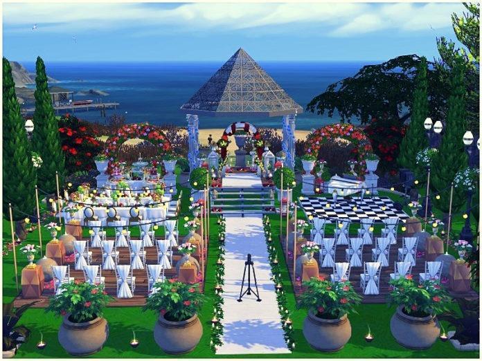 Свадебный парк от lotsbymanal для Sims 4