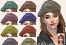 Женская беретка от S-Club для Sims 4