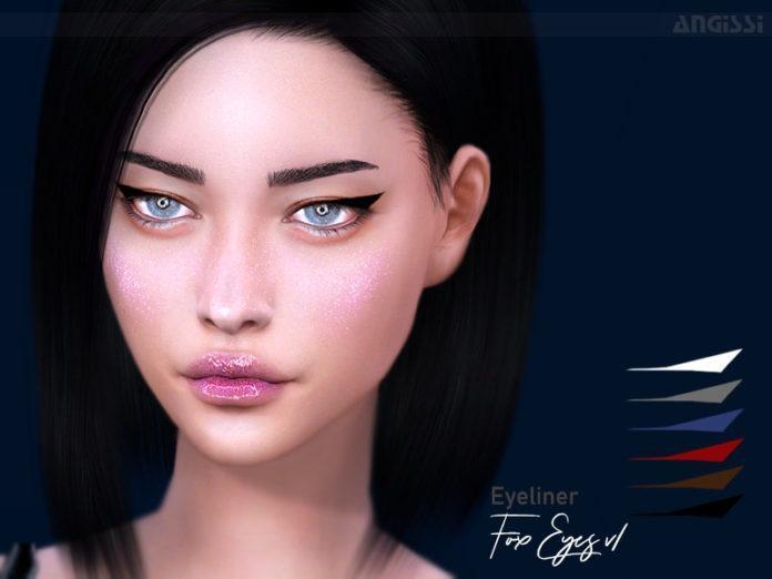 Стрелочки «Лисий взгляд» от ANGISSI для Sims 4