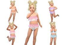 Детский костюм для отдыха от TrudieOpp для Sims 4