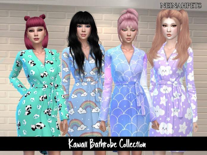 Халатик «Kawall» от neinahpets для Sims 4