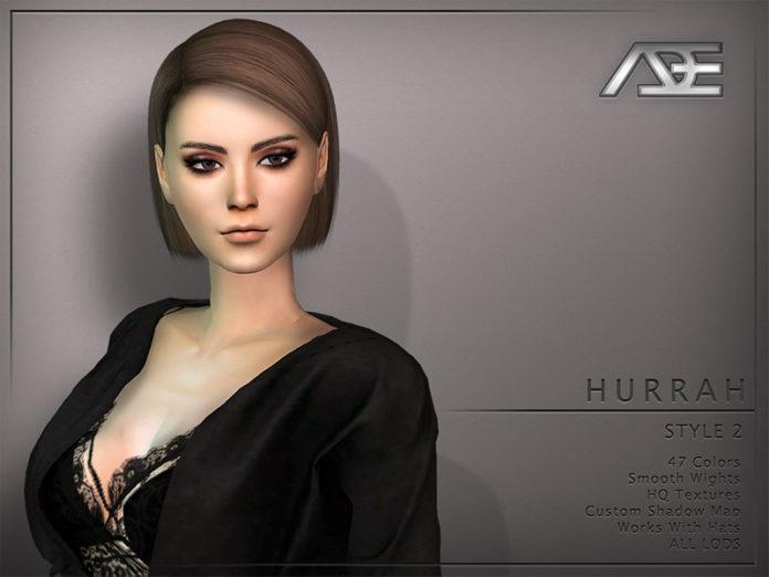 Женская прическа «Аде» от Ade_Darma для Sims 4
