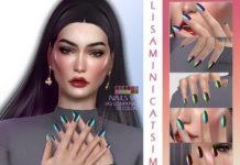 Маникюр «Хамелеон» №6 от Lisaminicatsims для Sims 4