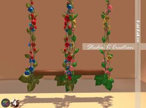Цветочные качели от karzalee для Sims 4