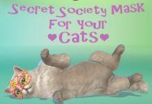 Загадочная маска для кошек от petsimk для Sims 4