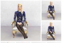 Набор одиночных поз «Герцогиня» от theroyalsims для Sims 4