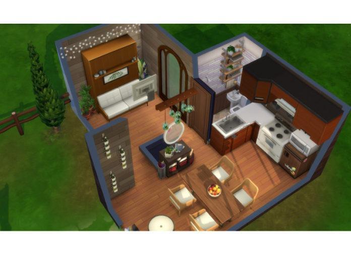 Компактный дом «Крошка» от SnowKimx для Sims 4