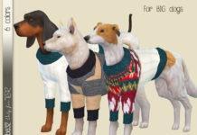 Шерстяные свитера для собак от Birba32 для Sims 4