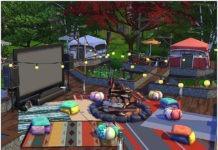 Парк «Кино и отдых» от lotsbymanal для Sims 4