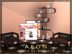 Набор офисной мебели «Aeon» от Winner9 для Sims 4