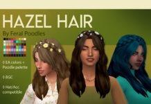 Прическа «Хейзель» от feralpoodles для Sims 4