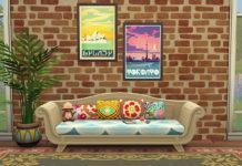 Набор ретро плакатов от nettlejuice для Sims 4