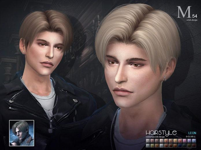 Мужская прическа «Леон» от S-Club для Sims 4
