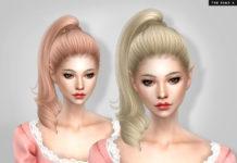 Причёска «Витой хвостик» от TsminhSims для Sims 4