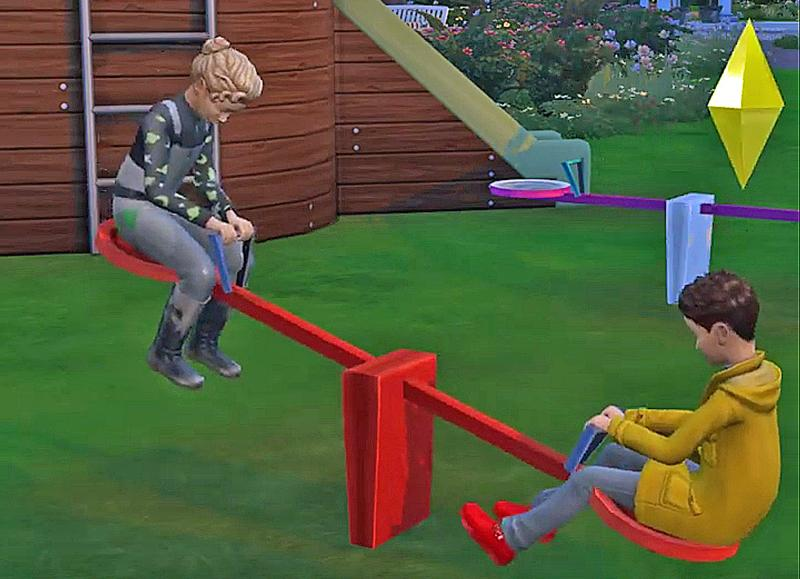 Мод «Качели-балансиры» от Thepanckel для Sims 4