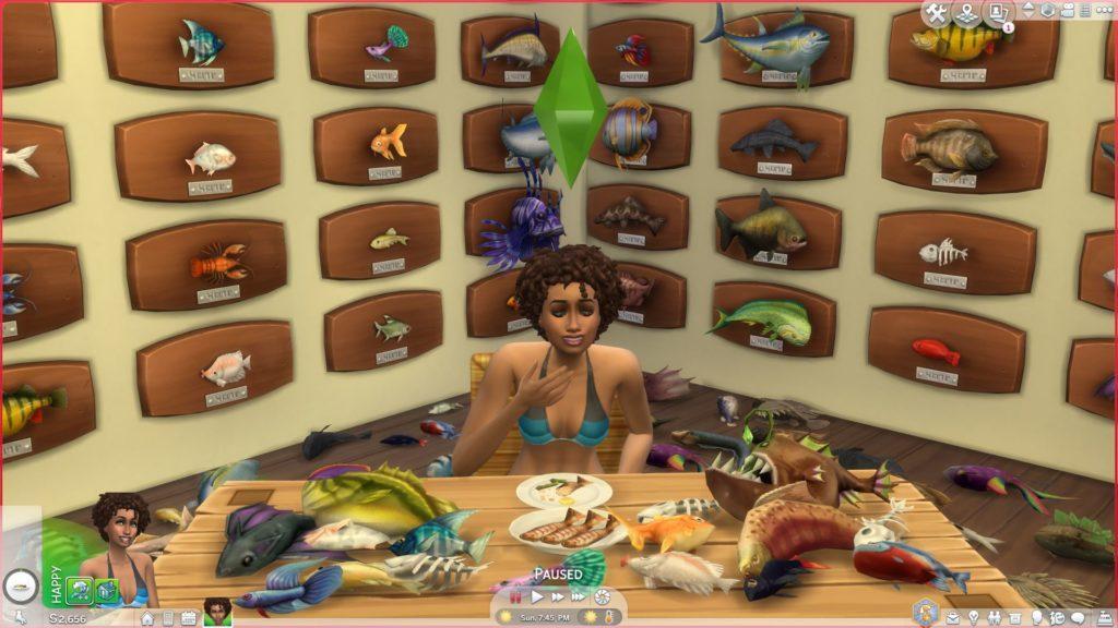 Мод «Рыба для русалок» от QueenSpud для Sims 4