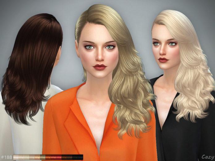 Женская прическа «Волна» от Cazy для Sims 4