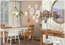 Набор декора для комнат «Скандинавия и Бохо» от Severinka для Sims 4