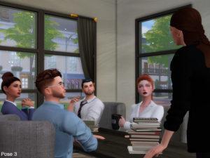 Набор поз «В офисе» от Beto_ae0 для Sims 4
