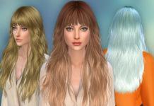 Женская прическа «Каскад» от Cazy для Sims 4