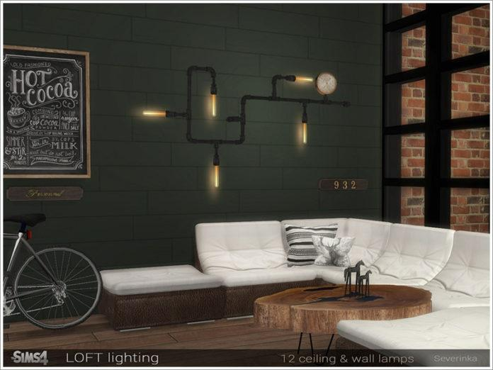 Светильники в лофт стиле от Severinka для Sims 4