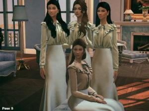 Набор поз «Династия» от Beto_ae0 для Sims 4