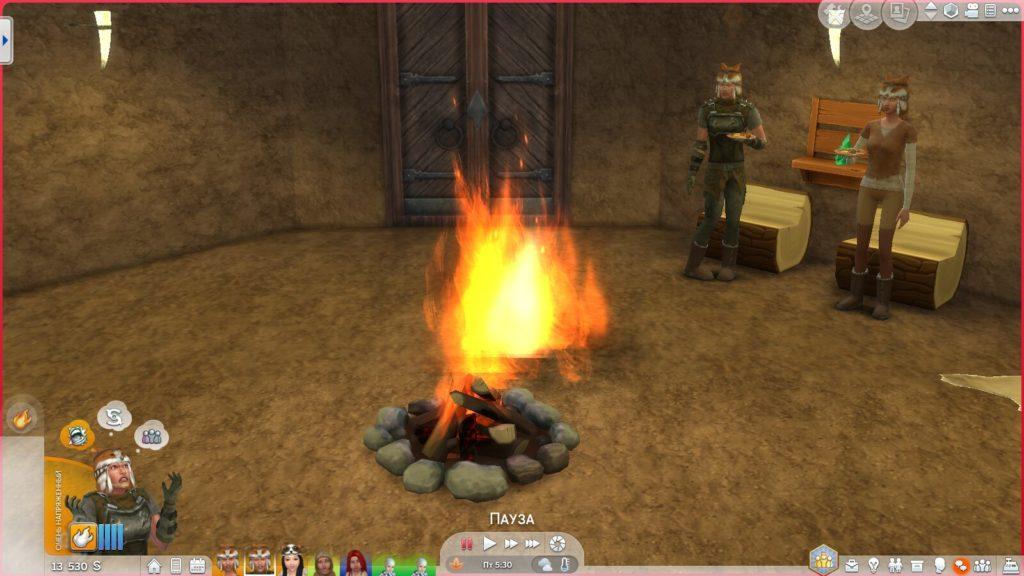 Мод «Правильный костёр» от Tofuman89 для Sims 4