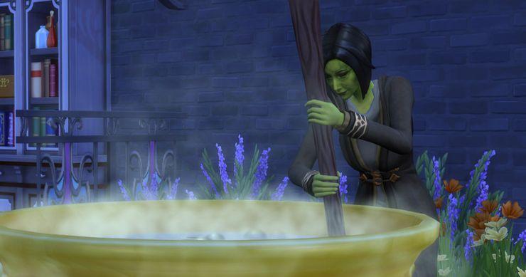 Как быстро снять и получить проклятия в Sims 4 Мир магии. Часть 1