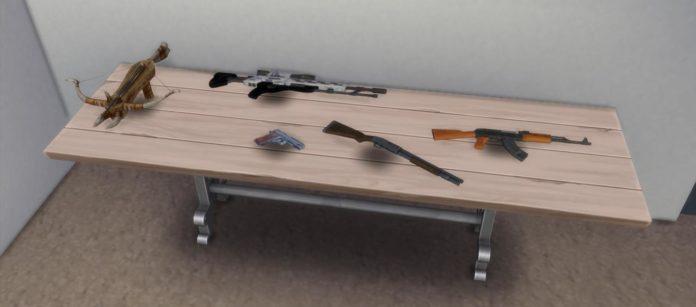Мод «Оружие» от necrodog для Sims 4