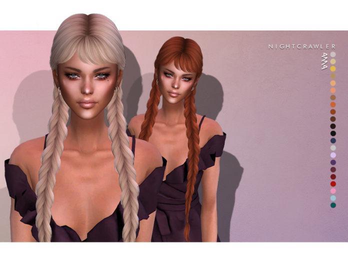 Женская прическа «Дерзость» от Nightcrawler Sims для Sims 4