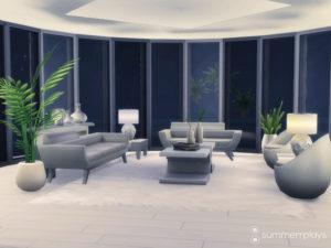Футуристический дом от Summerr Plays для Sims 4