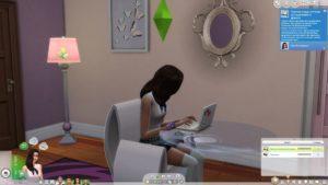 Мод «Ноутбук для навыков» от holographictrash для Sims 4
