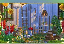 Набор садового инвентаря от soloriya для Sims 4