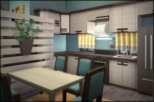 Жилой дом «Ручеёк» от Hallgerd для Sims 4