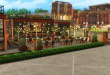 Индустриальный парк от simbunnyRT для Sims 4