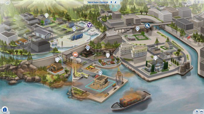 Мод «Перерисовка карты Эвергрин-Харбор» от DerShayan для Sims 4