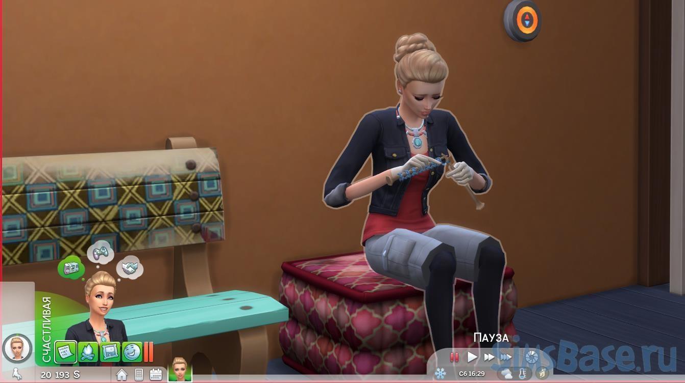 Мод «Ускорение процесса вязания» от RobinKLocksley для Sims 4