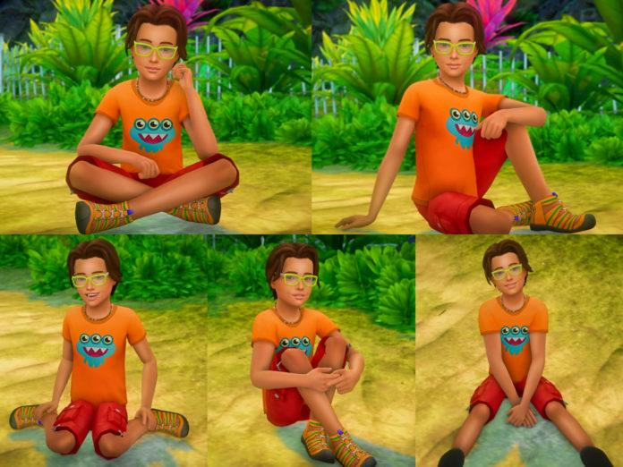 Набор детских поз «Сидя» от katverse для Sims 4