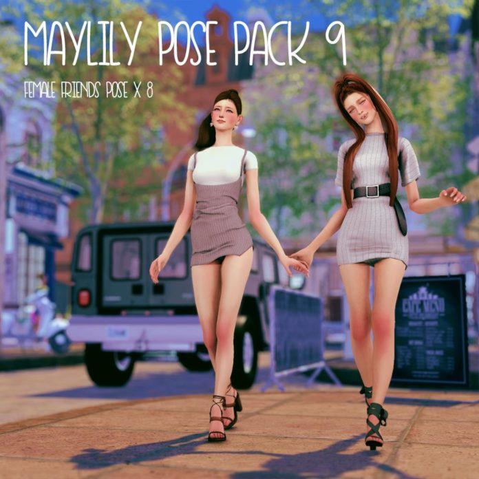 Набор анимационных поз «Подружки» от MaylilySims для Sims 4