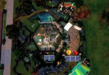 Жилой бункер для садовода от shvimer для Sims 4