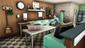 Кафе и прачечная «Чистый дом» от ivyandink для Sims 4