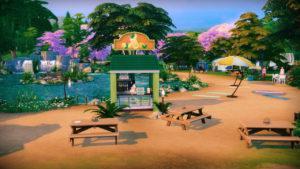 Парк «У озера» от isegrimsims для Sims 4