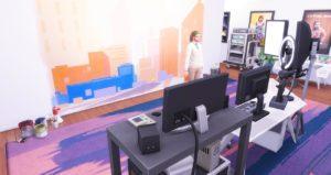 Творческий центр «Simtube» от JustKeepOnSimmin для Sims 4