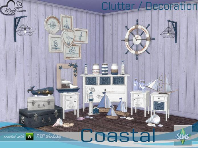 Набор декора «Любовь к морю - 1» от BuffSumm для Sims 4
