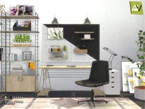 Набор офисной мебели Yucca от ArtVitalex для Sims 4