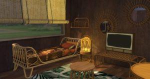 Набор плетеной мебели от sims-kkb для Sims 4