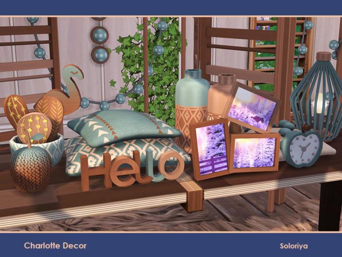 Набор предметов декора «Шарлотта» от soloriya для Sims 4