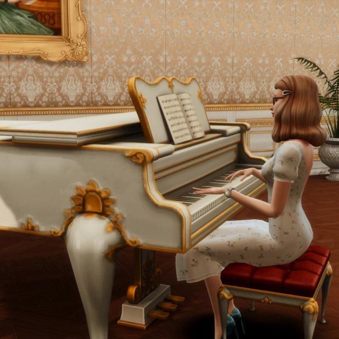 Набор поз «За фортепьяно» от Glitterberry Sims для Sims 4