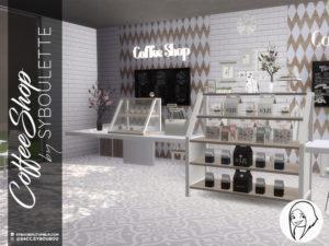 Набор предметов «Кафе» от Syboubou для Sims 4